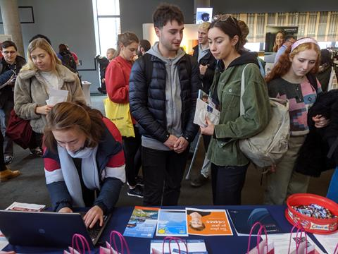 Queues at the University of Bristol Science Fair to sign-up with us