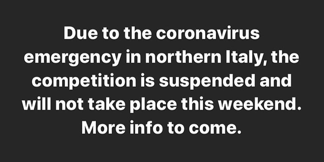 Coronavirus Outbreak in Italy Suspends Compex Box Challenge