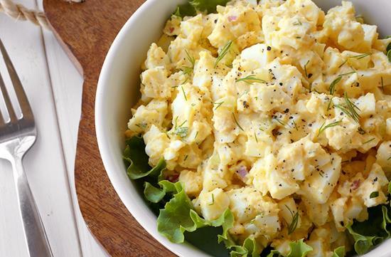 Homestyle egg salad