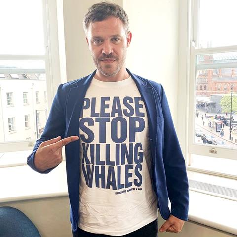 Will Young in our new t-shirt