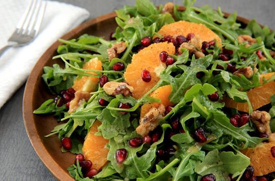 Arugula & pomegranate salad