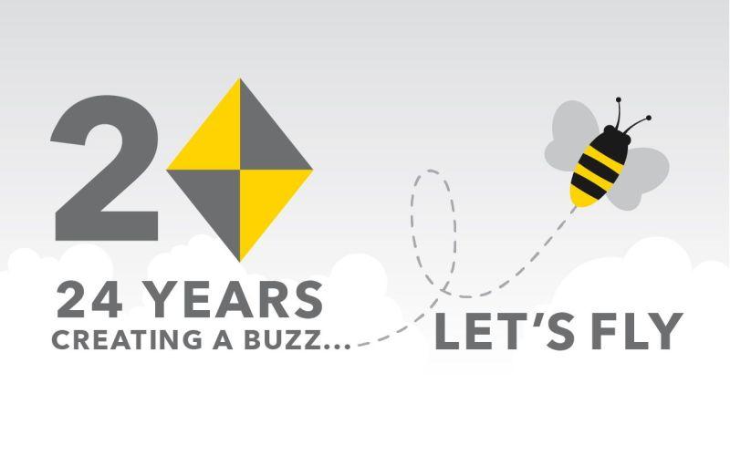 Busy as AB 24 year logo