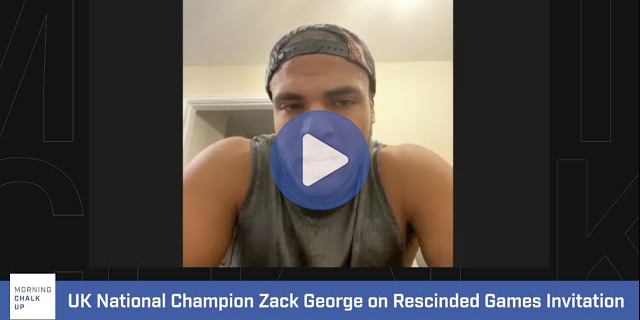 Video: UK National Champion Zack George Weighs in on Rescinded Games Invitation