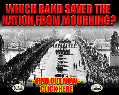 Tribut Apparel, 'When Music Really Matters'. Which band saved the nation from mourning? Find out now. Click here.