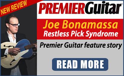 Joe Bonamassa - Restless Pick Syndrome. Premier Guitar feature story. Read Now