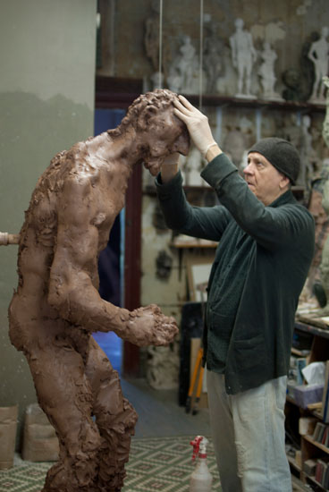 "Bruce Gagnier, ""Moses Striking the Rock,"" Studio"