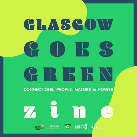 Glasgow Goes Green 'Zine graphic