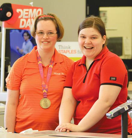 SOBC athletes at Staples Give a Toonie Share A Dream event