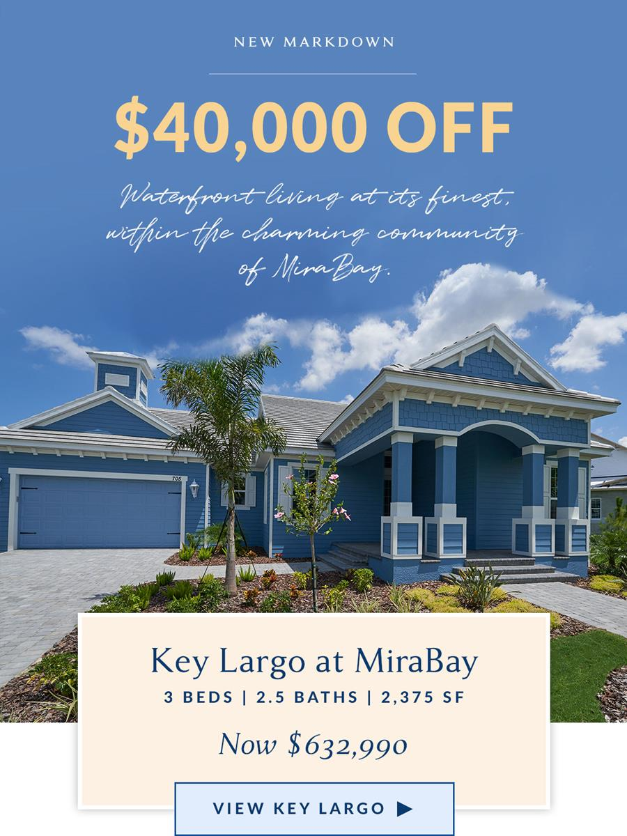 New markdown. 40,000 off this home. Waterfront living at its finest, within the charming beach community of Apollo Beach.