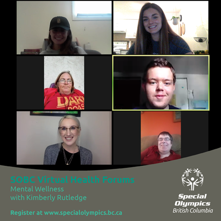 Special Olympics BC Virtual Health Forum for mental wellness