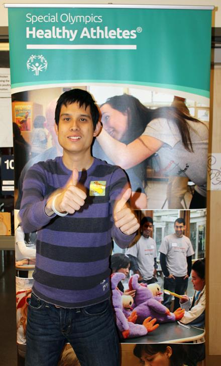 Cory gives Healthy Athletes screenings two thumbs up