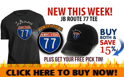 Buy the new Bonamassa Route 77 Tee and get a Free Pick Tin! Click here to buy now!