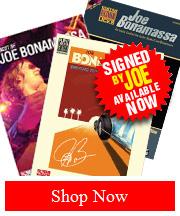 Joe Bonamassa Hand Signed Tab Books