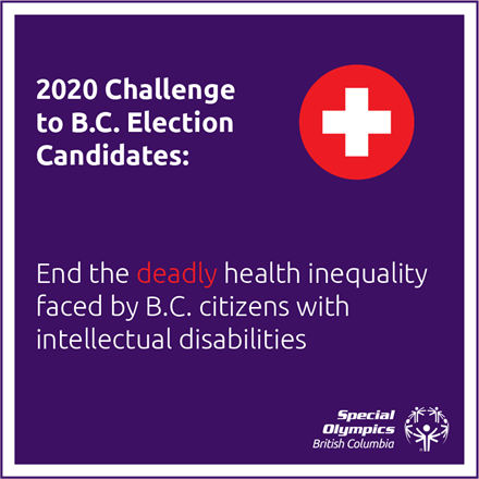 Special Olympics BC's challenge to provincial election candidates