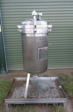 2,6 m2, 65 Liter, Eurovent Calmic Typ 45-S-19 Hastelloy Horizontalsiebfilter