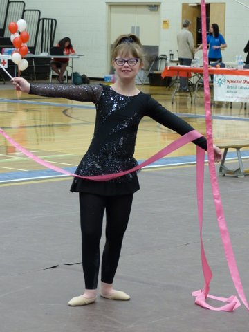 Special Olympics BC - Kelowna rhythmic gymnast Holly Womacks