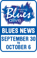 Keeping The Blues Alive brings you Blues News. Week of September 30th to October 6th.