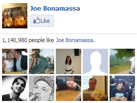 Joe Bonamassa on Facebook. 1,140,980 people like Joe Bonamassa. Yay!