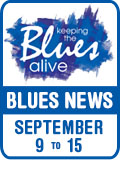 Keeping The Blues Alive brings you Blues News. Week of September 9th to 15th.