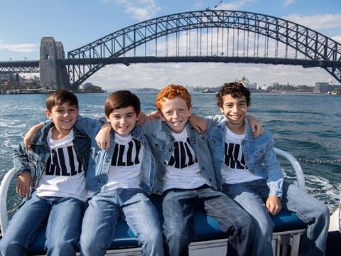 Billy Elliot on Sydney Harbour