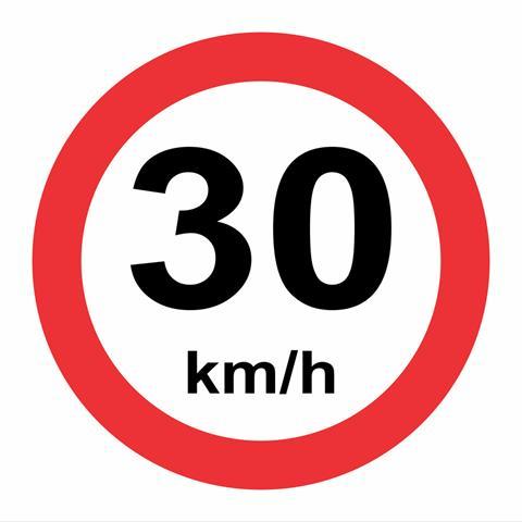 30 kph speed limit
