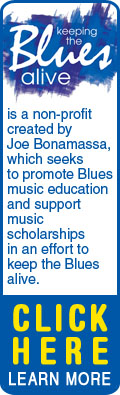 Keeping the Blues Alive is a non-profit created by Joe Bonamassa, which seeks to promote Blues music education and support music scholarships in an effort to keep the Blues alive. Click Here to Learn More