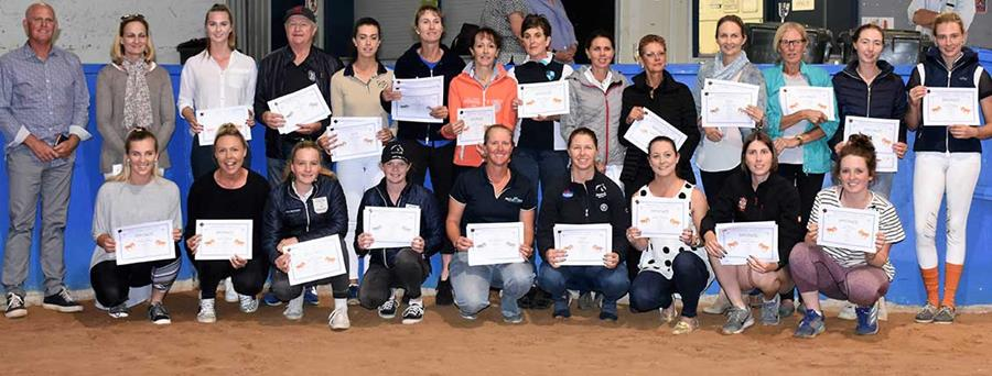Dressage Performance Medals Awarded for 2018