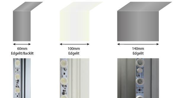 TexFrame Aluminum Profile widths