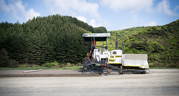 Paving machine operating
