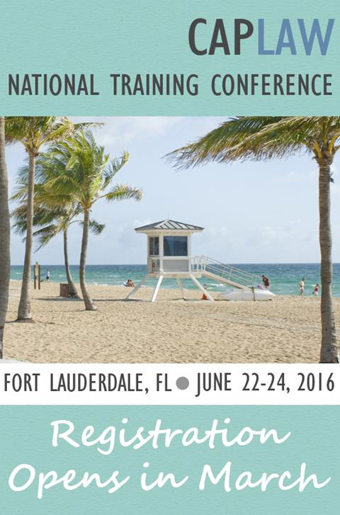 2016 National Training Conference
