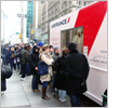 Gourmet airline food served for free from roving New York truck