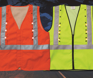Roobuck Intrinsically Safe high-visibility FRAS LED safety vest