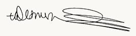 Desmond Tutu signature