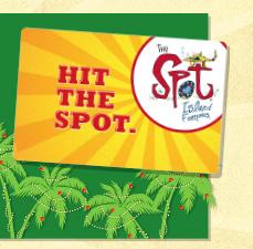 Hit the spot.